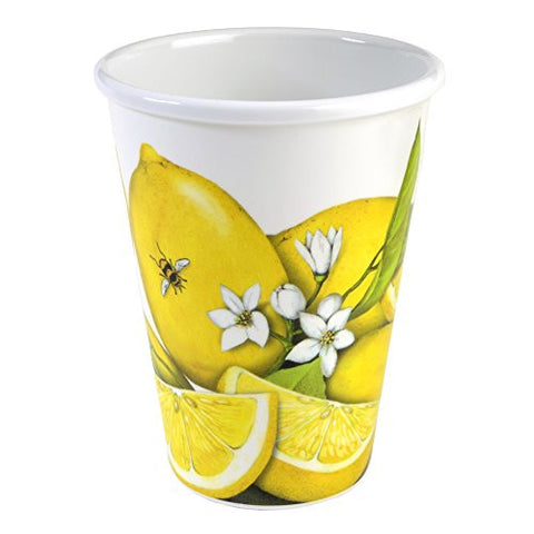 Lemons and Bees 14-ounce Melamine Cups, Set of 4 - The Barrington Garage