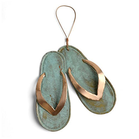 Dos Damas Designs Flip Flops Copper Ornament - The Barrington Garage