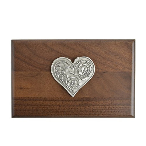Cynthia Webb Designs Pewter Heart Walnut Keepsake Box - The Barrington Garage