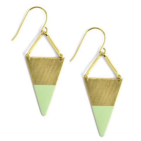Oceanne Mint Dipped Triangle Earrings - The Barrington Garage