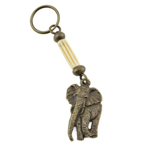 Handmade South African Elephant Brass Key Ring - The Barrington Garage