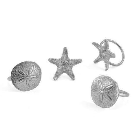 Vilmain Seashore Cast Pewter Napkin Rings, Set of 4 - The Barrington Garage