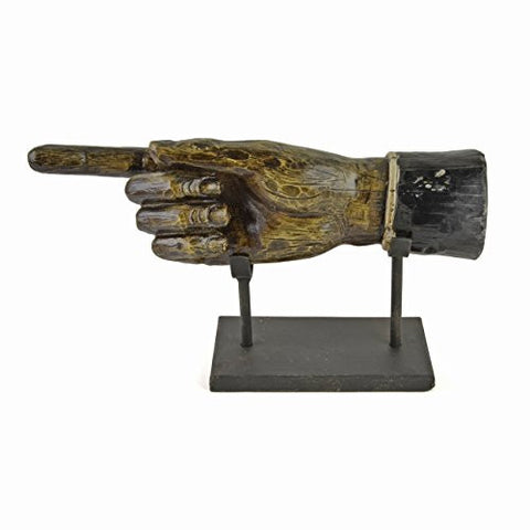 Creative Co-Op Resin Hand Figure on Metal Stand - The Barrington Garage