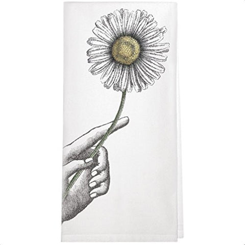 Montgomery Street Daisy in Hand Cotton Flour Sack Dish Towel - The Barrington Garage