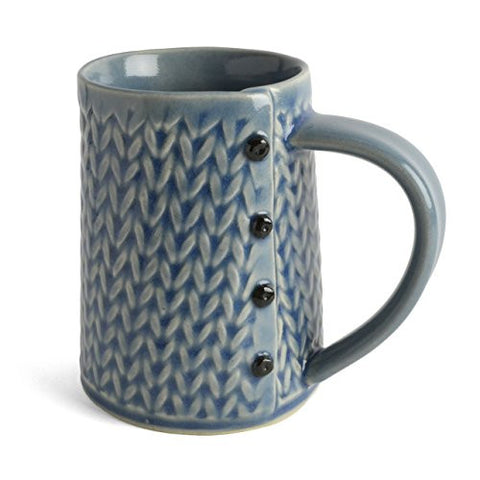 Creative with Clay Knitted Hand Built Coffee Mug - The Barrington Garage