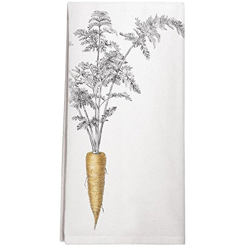 Montgomery Street Carrot Cotton Flour Sack Dish Towel - The Barrington Garage