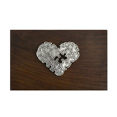 Cynthia Webb Designs Puzzle Heart Walnut and Pewter Box - The Barrington Garage