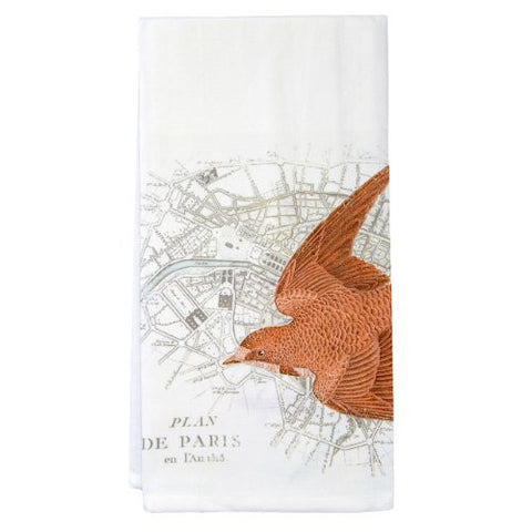 Montgomery Street Bird over Paris Cotton Flour Sack Dish Towel - The Barrington Garage