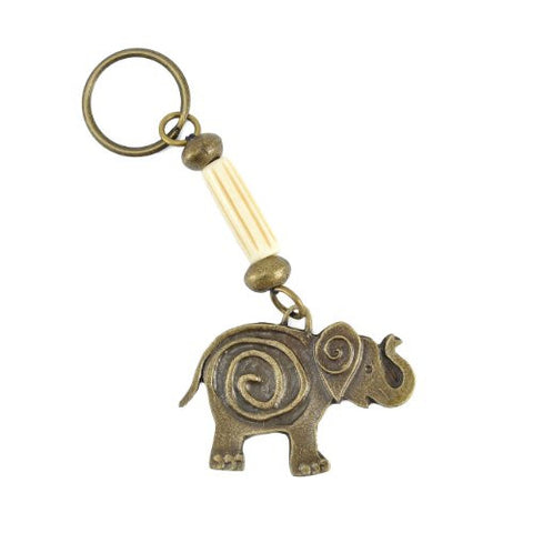 Handmade South African Funky Elephant Brass Key Ring - The Barrington Garage