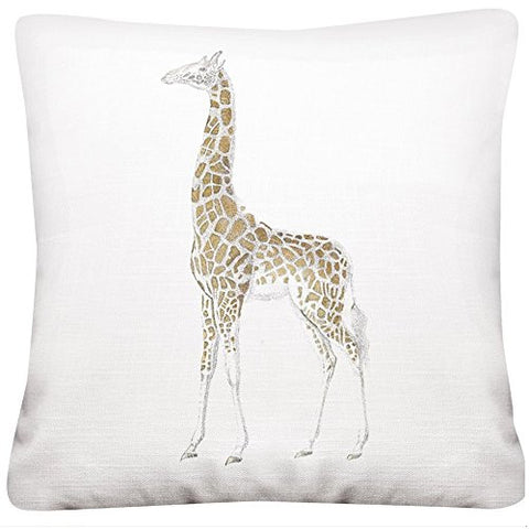 Montgomery Street Giraffe 16-inch Square Cotton Pillow - The Barrington Garage