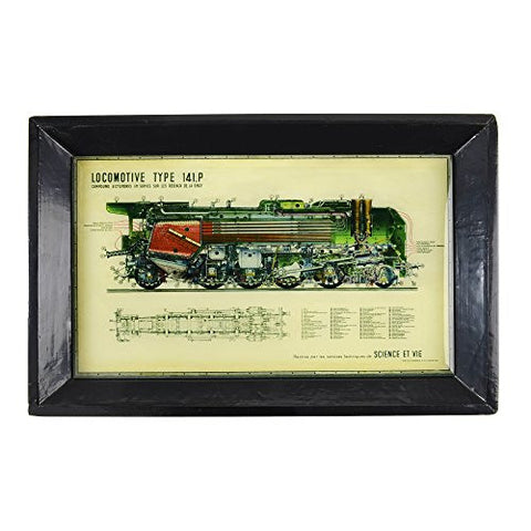 Floating Circus Locomotive Wood and Glass Tray - The Barrington Garage