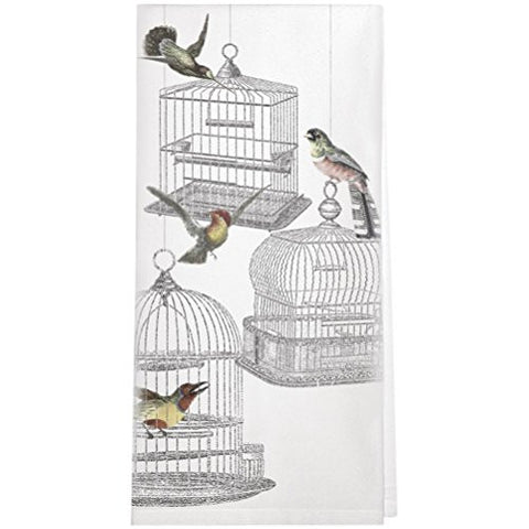 Montgomery Street Bird Cages Cotton Flour Sack Dish Towel - The Barrington Garage