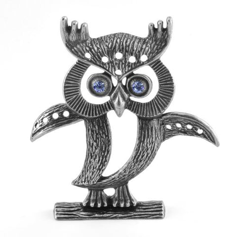 La Contessa Owl Pewter Earring Holder - The Barrington Garage