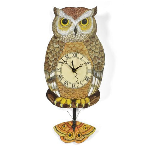 Laughing Moon Owl Wall Clock - The Barrington Garage