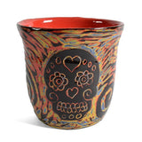 John Hutson Pottery Sugar Skull Tumbler - The Barrington Garage