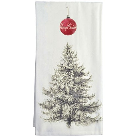 Montgomery Street Christmas Tree Cotton Flour Sack Dish Towel - The Barrington Garage