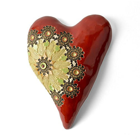 Laurie Pollpeter Eskenazi Large Radiance Heart, Red/Multi - The Barrington Garage