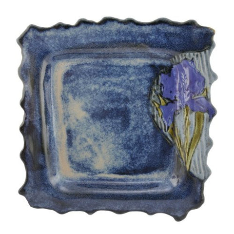 Emily Pearlman Pottery Iris 11-inch Square Platter - The Barrington Garage