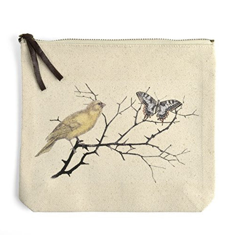 Montgomery Street Bird Nest Canvas Zipper Pouch - The Barrington Garage