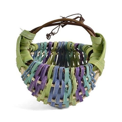 Designer Baskets by Derek Miniature Rainbow Basket, Lime/Aqua/Grape - The Barrington Garage