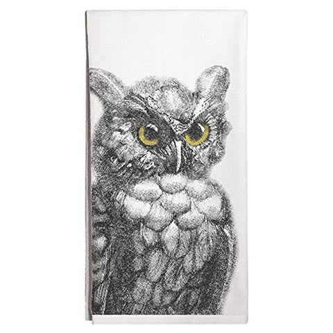 Montgomery Street Owl Cotton Flour Sack Dish Towel - The Barrington Garage