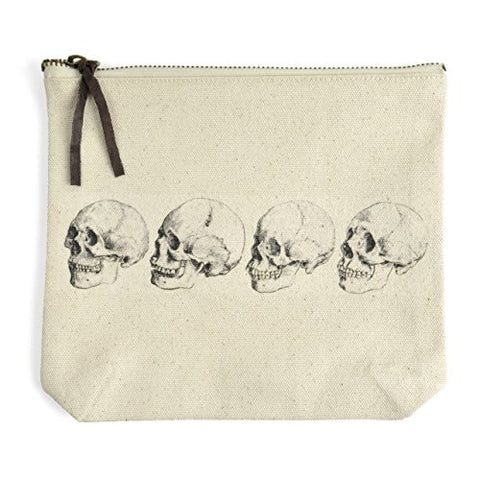 Montgomery Street Skulls Canvas Zipper Pouch - The Barrington Garage