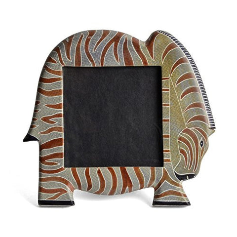 African Soapstone Zebra 4 x 4 Picture Frame - The Barrington Garage