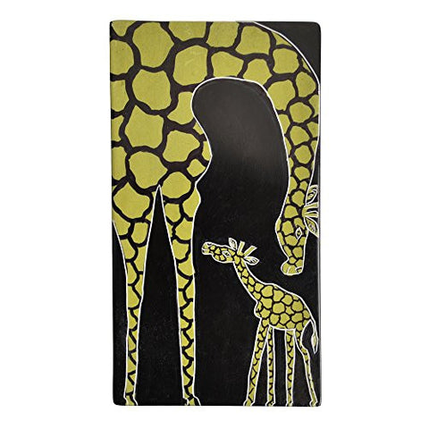 Kenyan Soapstone Hand Painted Mother and Baby Giraffe Box - The Barrington Garage