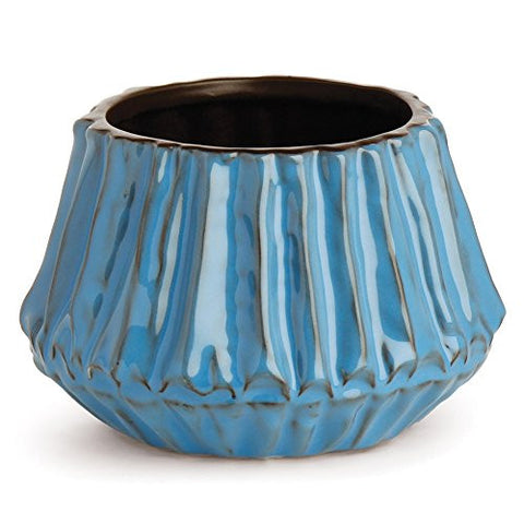 Napa Home & Garden Laguna Beach Guild Medium Cachepot, Aqua - The Barrington Garage
