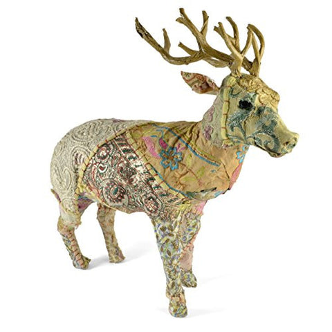 HomArt Reclaimed Fabric Reindeer, Large - The Barrington Garage