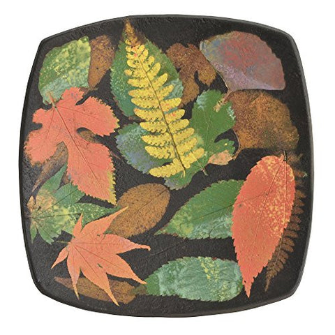Petrified Forest 7-inch Square Multicolor Leaf Bowl - The Barrington Garage