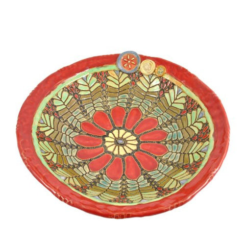 Laurie Pollpeter Eskenazi Daisy in Red 11.5-inch Bowl - The Barrington Garage