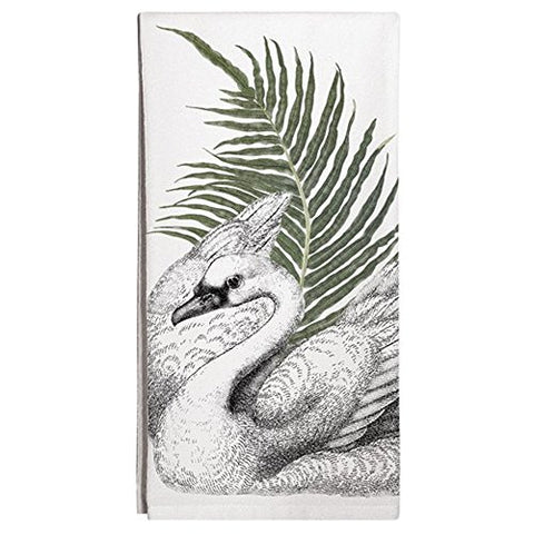 Montgomery Street Swan Cotton Flour Sack Dish Towel - The Barrington Garage