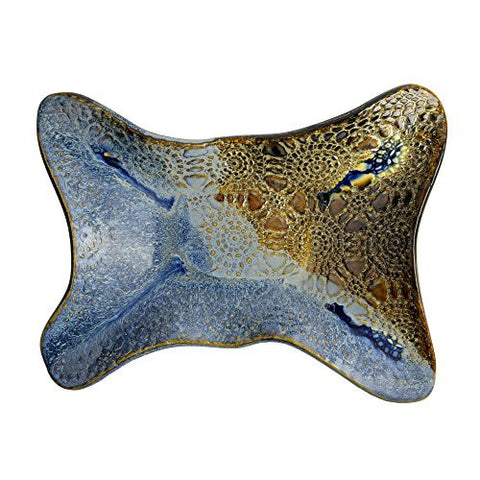 Ole Fish House Embossed Wavy Dish, Ocean Blue - The Barrington Garage