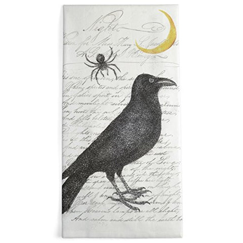 Montgomery Street Raven and Spider Cotton Flour Sack Dish Towel - The Barrington Garage