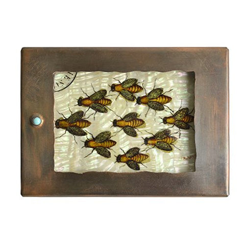 Grace Gunning Bees Copper Reliquary Box - The Barrington Garage