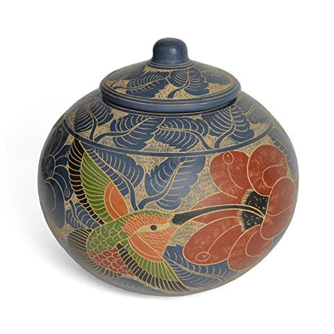 Nicaraguan Pottery 6-inch Hummingbird Jar - The Barrington Garage