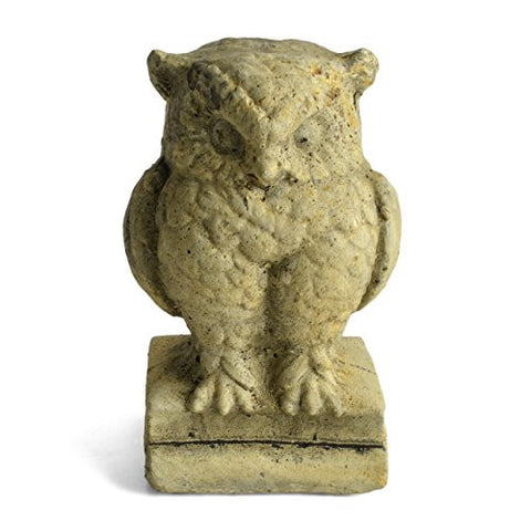 R Taylor Farmhouse Owl Cast Cement Figurine - The Barrington Garage