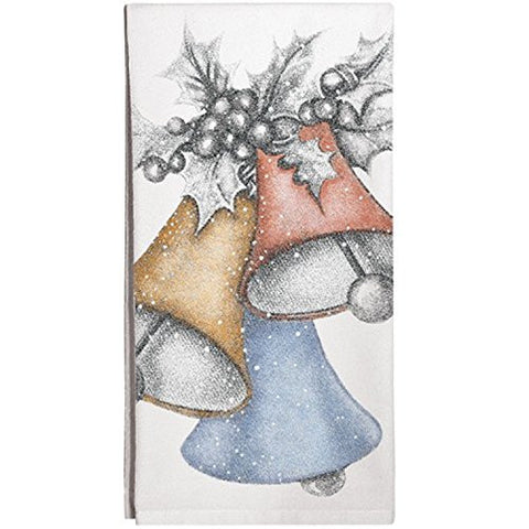Montgomery Street Christmas Bells Cotton Flour Sack Dish Towel - The Barrington Garage