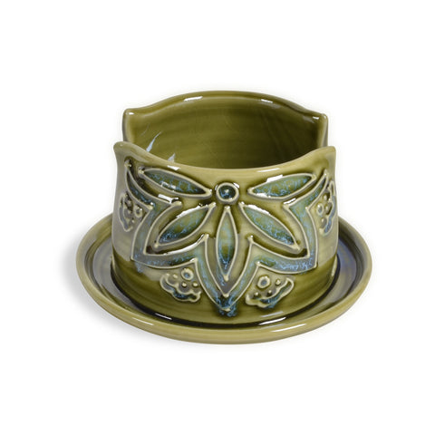 AshenWren Ceramics Sponge Holder, Emerald