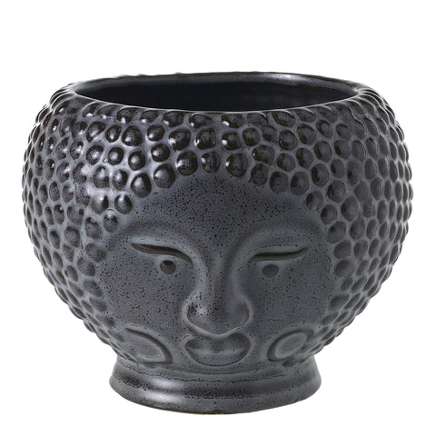 Accent Decor Queen Ophelia 6-inch Stoneware Pot, Gray