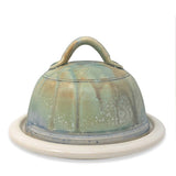 Ansel Beck Pottery Butter Dish Cheese Plate with Dome Lid