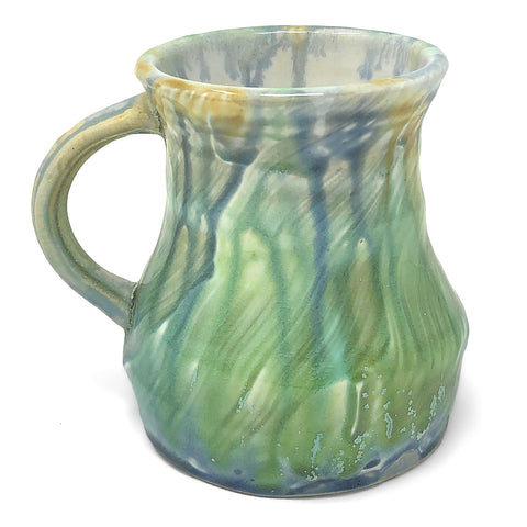 Ansel Beck Pottery Wide Bottom Coffee Mug, Multicolor