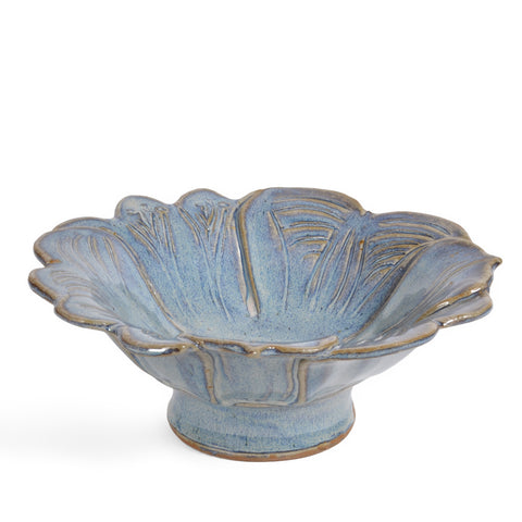 Anthony Stoneware Petals 8-inch Footed Bowl