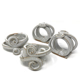 Anthony Stoneware Napkin Rings, Set of 4