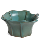 Anthony Stoneware Slab-Built 8-inch Petal Rim Bowl