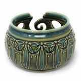 AshenWren Ceramics Yarn Bowl, Emerald Green