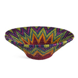 African Fair Trade Hand Woven 12-inch Basket, Rainbow - The Barrington Garage