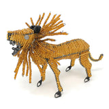 African Fair Trade 7.5-inch Beaded Lion Figurine