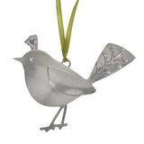 Beehive Handmade Fancy Bird Pewter Ornament - The Barrington Garage